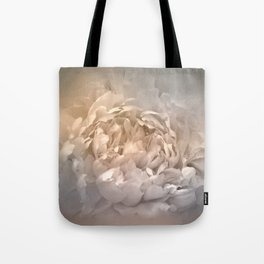 Blushing Silver and Gold Peony - Floral Tote Bag