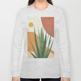 Abstract Agave Plant Long Sleeve T-shirt