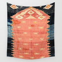 South West Anatolia  Antique Turkish Niche Kilim Print Wall Tapestry