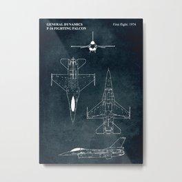 F-16 FIGHTING FALCON - 1974 Metal Print