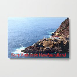 Canadian National Historical Site Fort Amherst and WWII bunkers Metal Print
