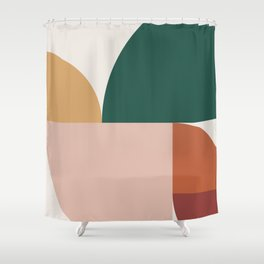Abstract Geometric 11 Shower Curtain