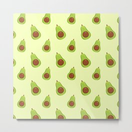 Avocado Simple Pattern Design Metal Print