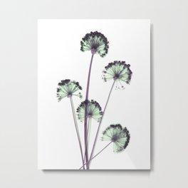blue and pink flowers . wallpaper , flower decor, printable art Metal Print