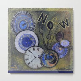 The Time is Always Now (or 11:11) Metal Print
