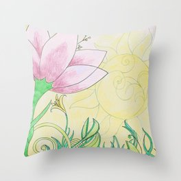 Botanica II Throw Pillow