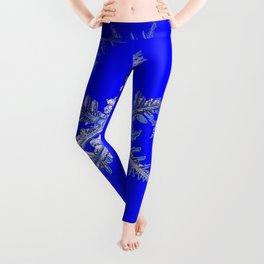 """""""MORE SNOW"""" BLUE WINTER ART DESIGN Leggings"""