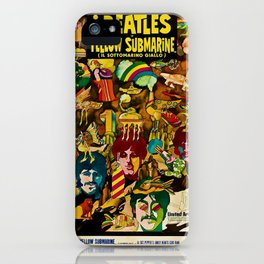 1968 Yellow Submarine Italy Movie Promotional Poster iPhone Case