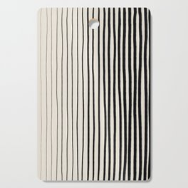 Black Vertical Lines Cutting Board