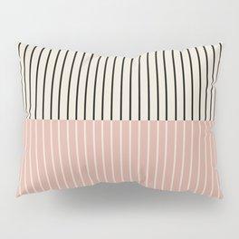 Color Block Lines XIV Vintage Pink Pillow Sham
