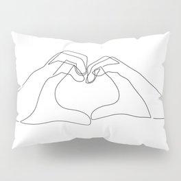 Hand Heart Pillow Sham