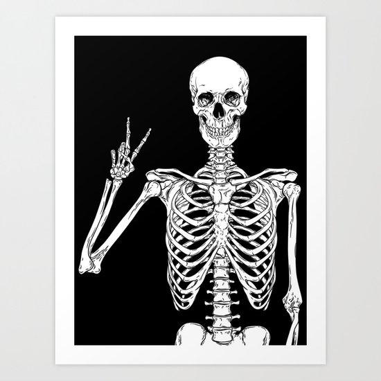 Human skeleton posing isolated over black background vector illustration by denzhu