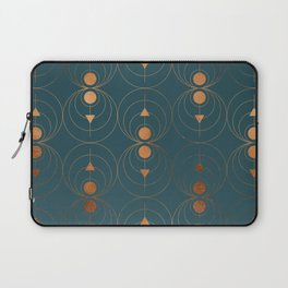 Copper Art Deco on Emerald Laptop Sleeve