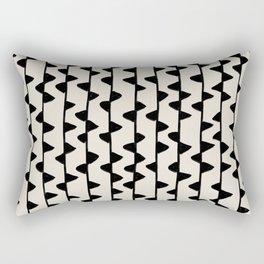 Triangles / Black & White Pattern Rectangular Pillow