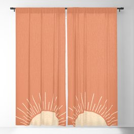 Sunrise pink Blackout Curtain