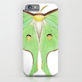 Luna or Large pea-green phalaena  from The Naturalists Miscellany (1789-1813) by George Shaw (1751-1 iPhone Case