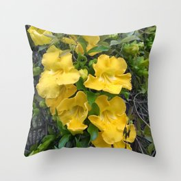Cat's Claws Vines Throw Pillow