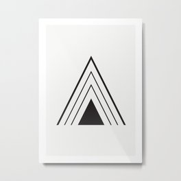 """Tipography """"A"""" Metal Print"""
