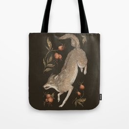 The Wolf and Rose Hips Tote Bag