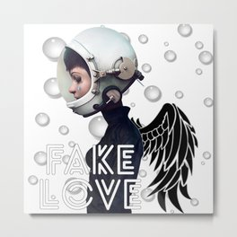 FAKE LOVE (Tear) Metal Print
