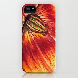 Fire Lily - close up iPhone Case