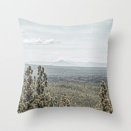 True Grain // Gritty Desaturated Detail of the Oregon Coast Mountains and Woods Throw Pillow