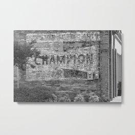 Champion Spark Plugs Vintage Sign   Kinston, NC Metal Print