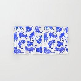 Cat Positions – Blue Palette Hand & Bath Towel