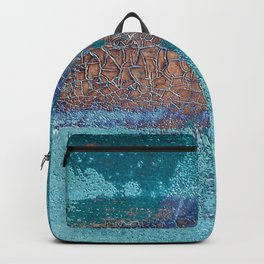 Rust and Cracks Turquoise Backpack