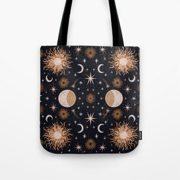 Moon Sun Stars Tote Bag