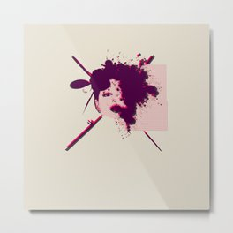 Fizzing Forth Pink Gin Metal Print