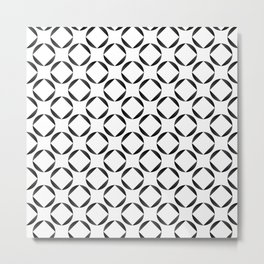 Seamless Geometric Black and White Abstract Pattern Metal Print