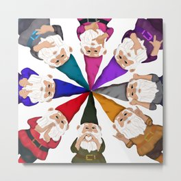Hangin with my Gnomies - Circle of Trust Metal Print