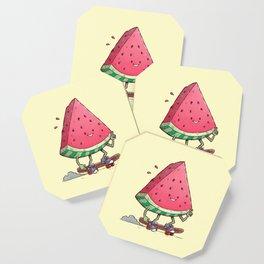 Watermelon Slice Skater Coaster
