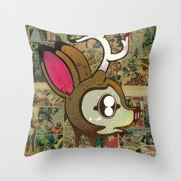 Deer Head Throw Pillow