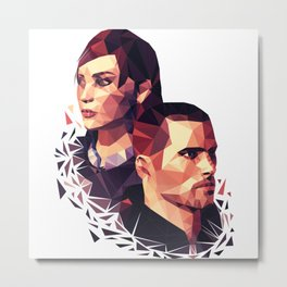 Facets of Shepard Metal Print