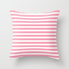 Light Pink and White Stripes Throw Pillow