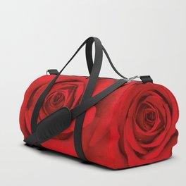 Lovely Red Rose Duffle Bag