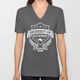 University of retirement fishing department 2020 gift idea Unisex V-Neck