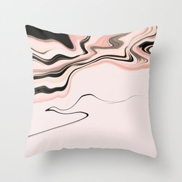 Pinkish Fluidity Throw Pillow