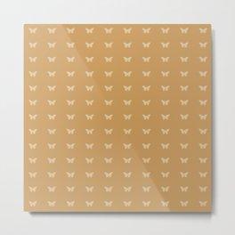 Minimal Butterfly Pattern - Clay Metal Print