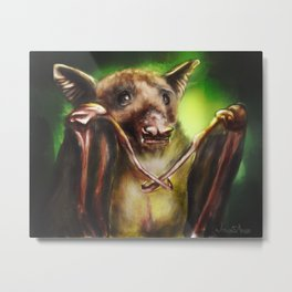 Baby Birthday Bat Metal Print