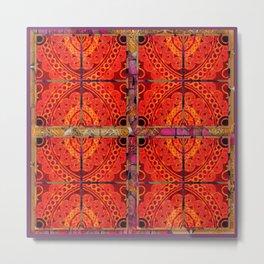 no. 196 orange pattern Metal Print