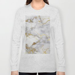 Italian gold marble Long Sleeve T-shirt