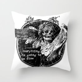Of Things Long Past - In the End Throw Pillow