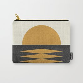 Sunset Geometric Midcentury style Carry-All Pouch