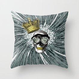 Skull Storm Throw Pillow