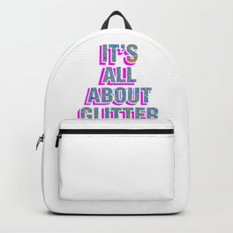It's All About Glitter Colorful Backpack