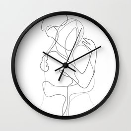 Lovers - Minimal Line Drawing Wall Clock