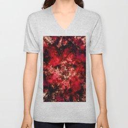 Red burst Unisex V-Neck